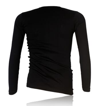 Police X.015 Extra Size Plain Black Long Sleeve T-Shirt