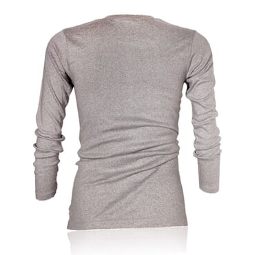 Police X.015 Extra Size Plain Grey Long Sleeve T-Shirt