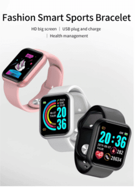 Y68 Waterproof Bluetooth Sport SmartWatch and Fitness Tracker