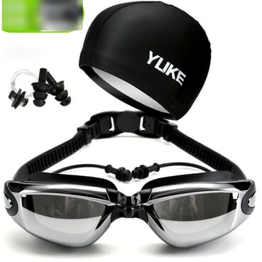 Yuke UK HD Waterproof Anti-Fog Glasses Swimming Kit