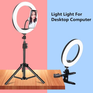 26cm Led Ring Light Living Broadcast Selfie Fill Lamp Usb Dimmable Ringlight Lamp With Pho