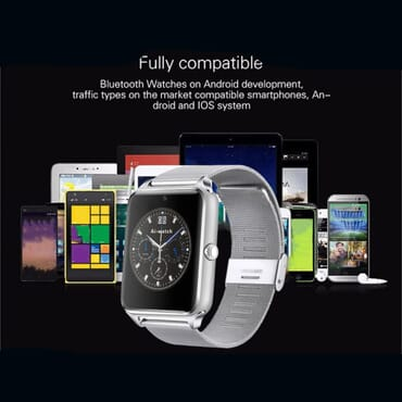 Z60 Smart Watch Metal Strap Bluetooth Wrist Smartwatch