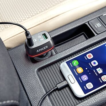 Anker 42W PowerDrive+ 2 Dual Port USB Car Charger with Quick Charge 3.0
