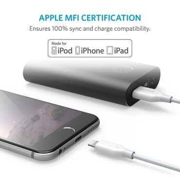 Anker PowerLine Lightning Cable (3ft) with over 5,000 bends lifespan
