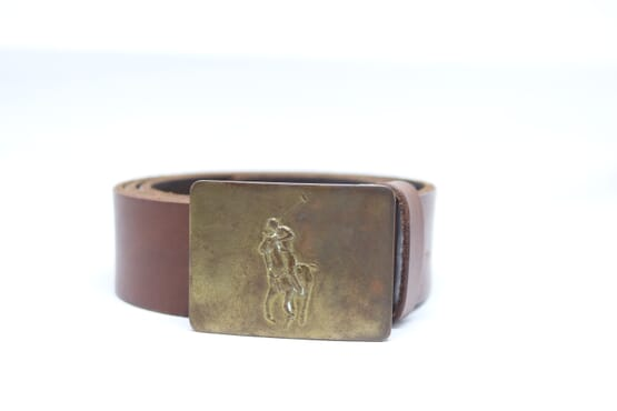 Big Pony–Buckle Leather Belt from Ralph Lauren