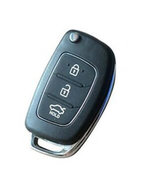Flip 3 Button Remote Key Shell for Hyundai.