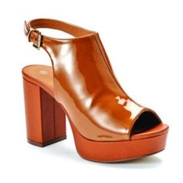 Women's Sling Back Peep Toe  Platform Heels