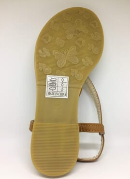 Rosegirl Leaf Sandal - Brown
