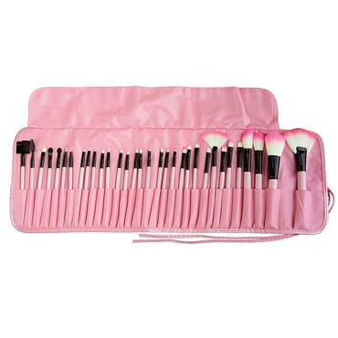 Makeup brush set - 32pcs - pink