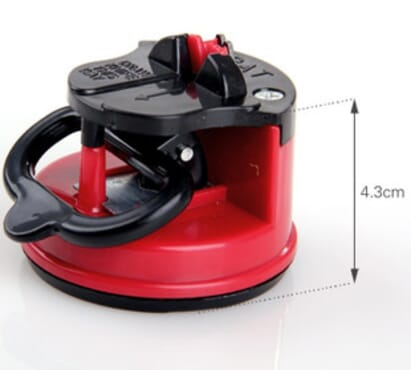 Knife Sharpener With Suction Pad -Red