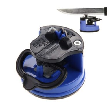 Knife Sharpener With Suction Pad -Blue