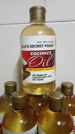 ELLE'S SECRET FOODS, COCONUT OIL