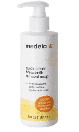 MEDELA QUICK CLEAN BREASTMILK REMOVAL SOAP, 6 FL