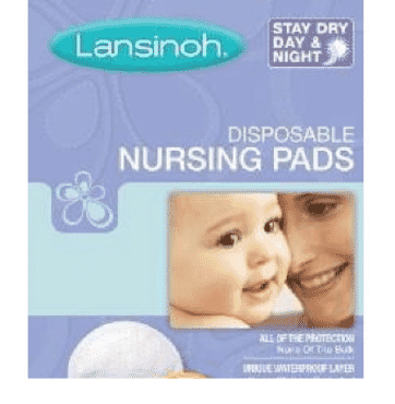 LANSINOH 20265 DISPOSABLE NURSING PADS, 60-COUNT BOX