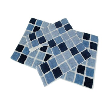 2PC BLOCK BATH SET BLUE