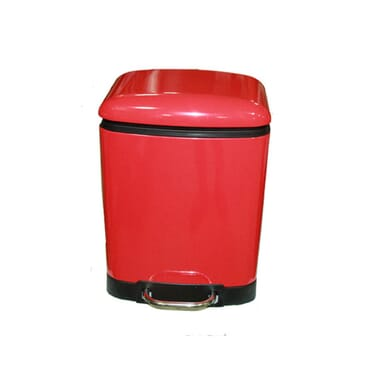 6L pedal bin soft close- red