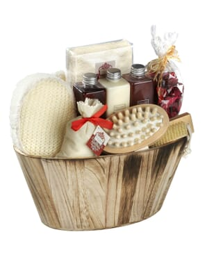 Winter in Venice Wooden Oval Bowl – Body and Bath Gift Set