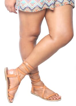 K-Choc brown gladiators sandals