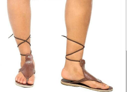 K-Choc chocolate brown leather gladiator sandal