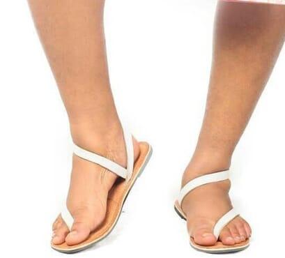 Flat white sandals