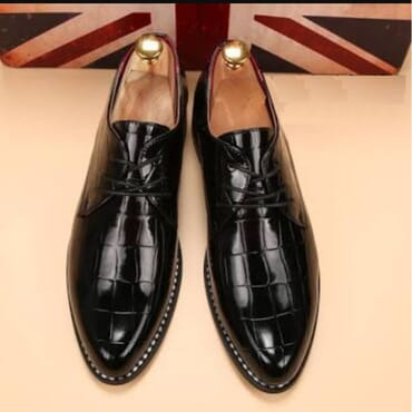 High Shine Oxford Shoes in Black