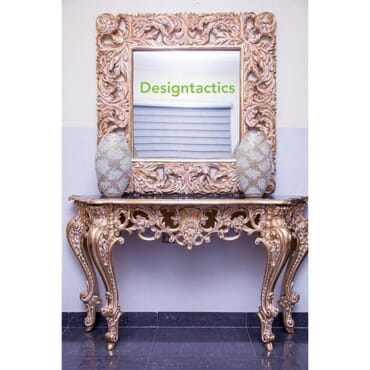 Royal Gold Console and Mirror