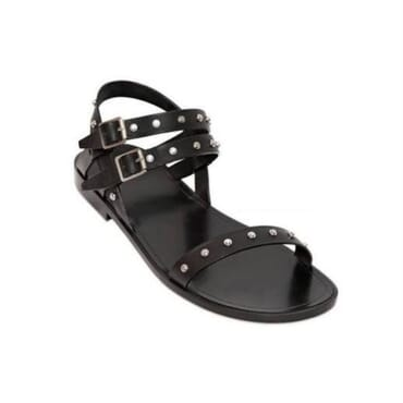 Men's Double buckle leather sandals