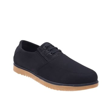 Smooth Casual Loafers-Black