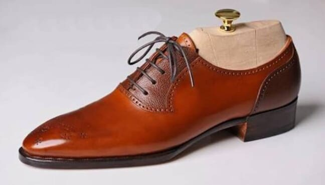 Wide Fit Brogue Shoes in Brown