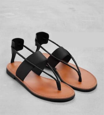 K- Choc Leather Flat Sandals