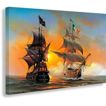 Sailing Ships Canvas Print cp103