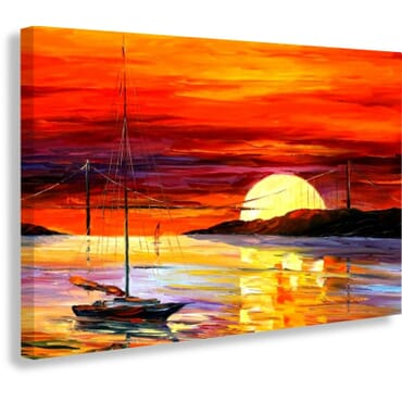 Sunset Painting Canvas Prints cp104