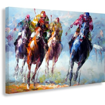 Horse Race Painting Canvas Print cp105