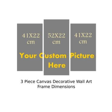Personalized 3 Piece Canvas Wall Art cp001b