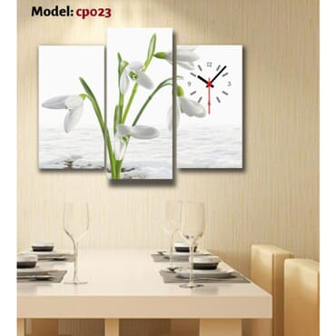 White Flower Canvas Wall Art  cp023