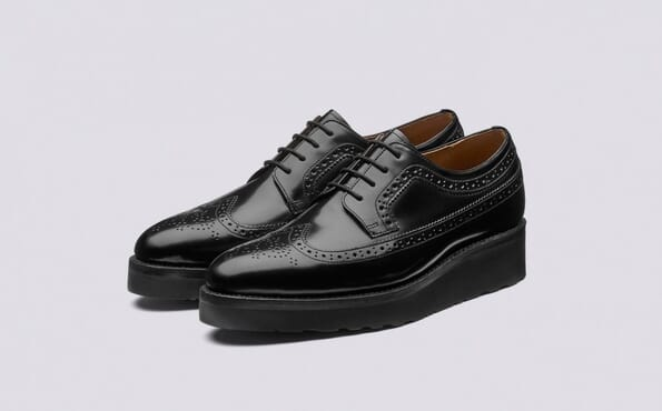 K-Choc Hurst Leather Brogue Shoes