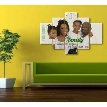 Personalized 5 Piece Canvas Wall Art cp001a
