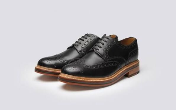 K- Choc Hurst Leather Brogue shoes In Black (Low)