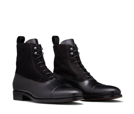 K-Choc Leather Lace Up Boots In Black