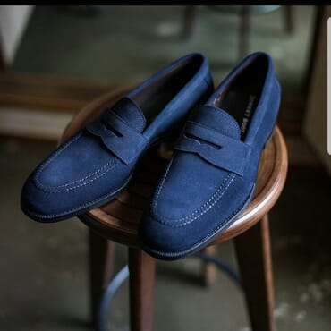 K-Choc Suede Penny Loafer Shoes