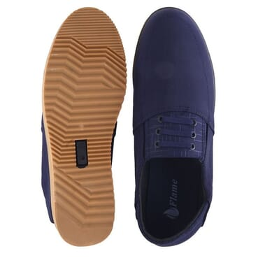 Smooth Casual Loafer-Blue