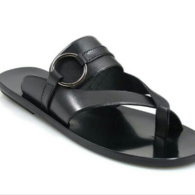 453d8152e0a06 Black Leather Palm Slippers