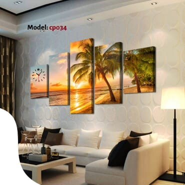 Beach Canvas 5 Piece Wall Frames cp034