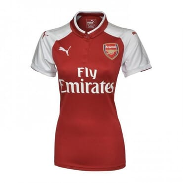 2017/2018 Puma Arsenal Authentic Home Kit,Female Jersey,