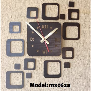 Cubes Design DIY Wall Clock mx062