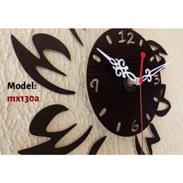 Rhombus leaves DIY wall clock mx008