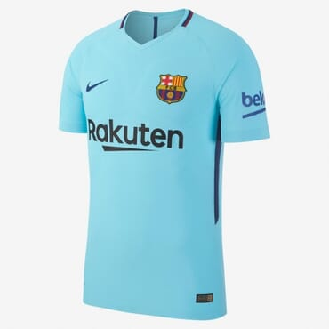 2017/2018 Nike Barcelona Authentic Away Kit
