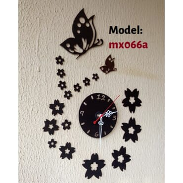 Decorative Butterfly DIY Wall Clock mx066