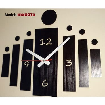 Bars and Dots Wall Clock mx007