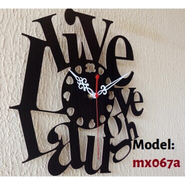 Live Love Laugh DIY Wall Clock mx067
